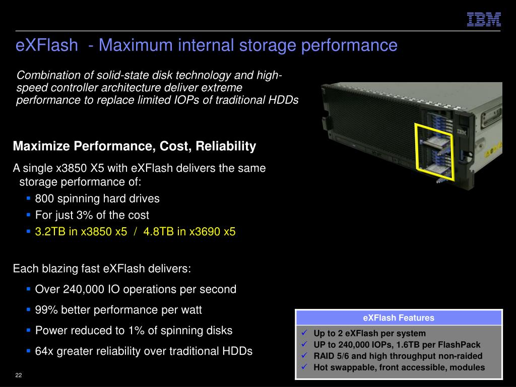 eXFlash  - Maximum internal storage performance