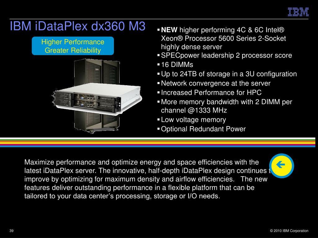 IBM iDataPlex dx360