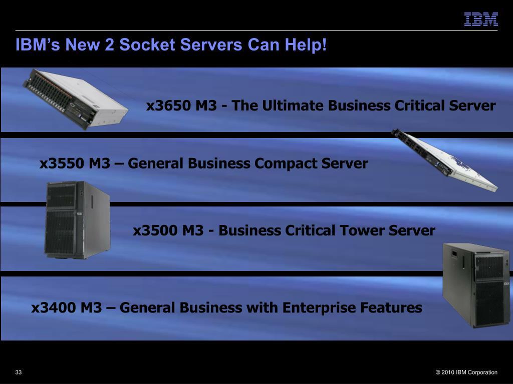 IBM's New 2 Socket Servers Can Help!