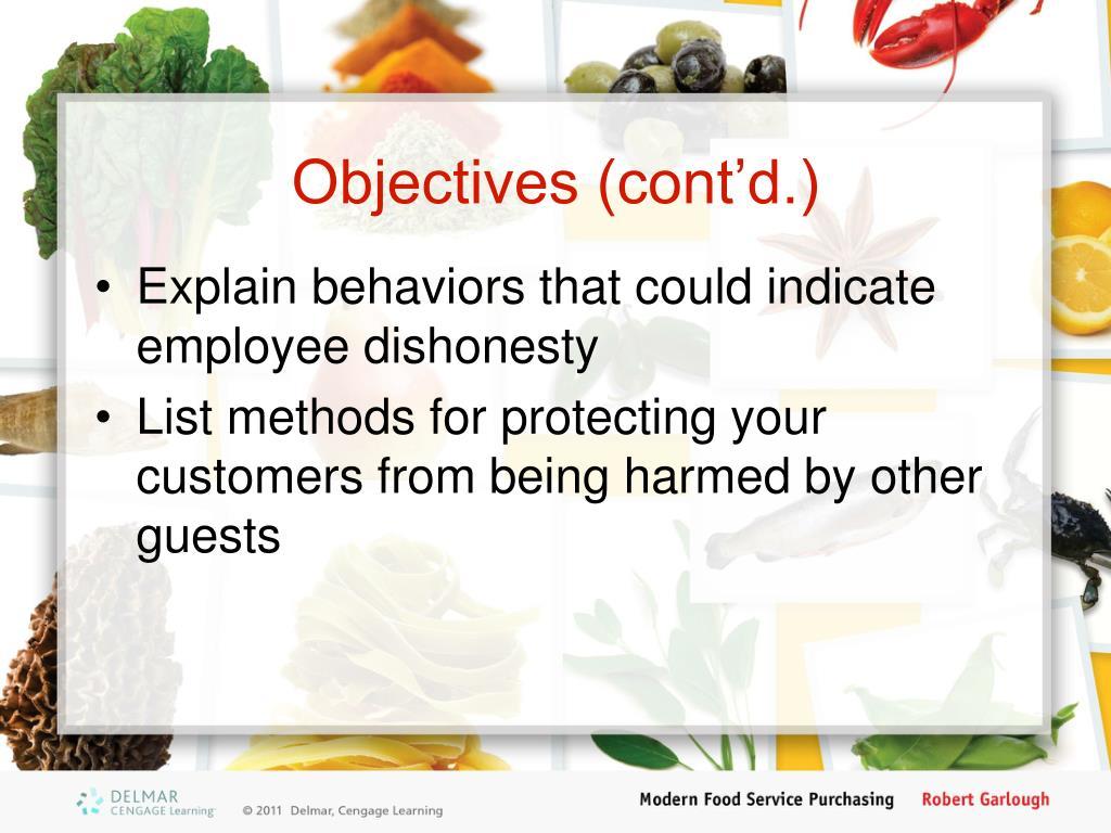 Objectives (cont'd.)