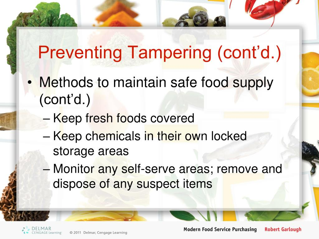 Preventing Tampering (cont'd.)