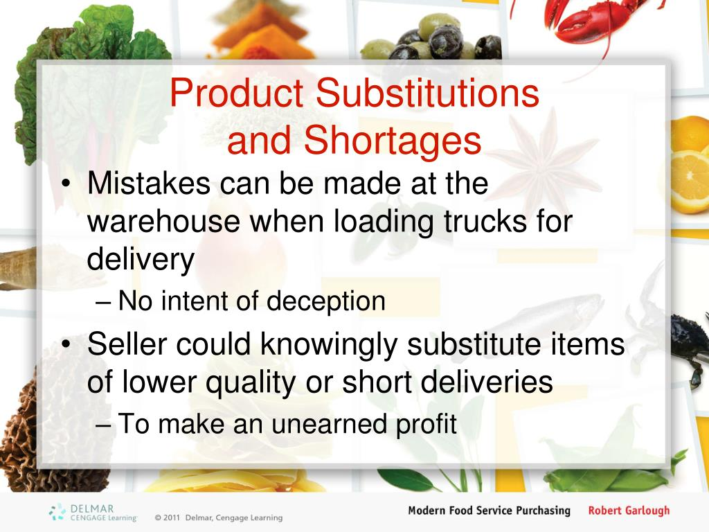 Product Substitutions