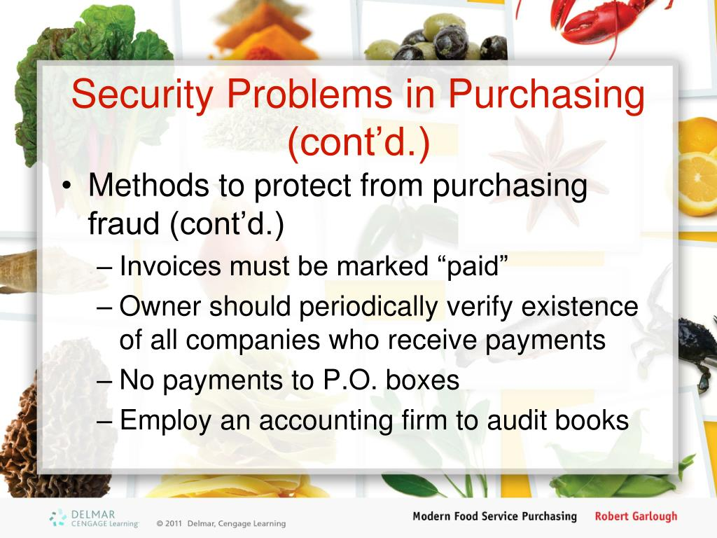 Security Problems in Purchasing (cont'd.)