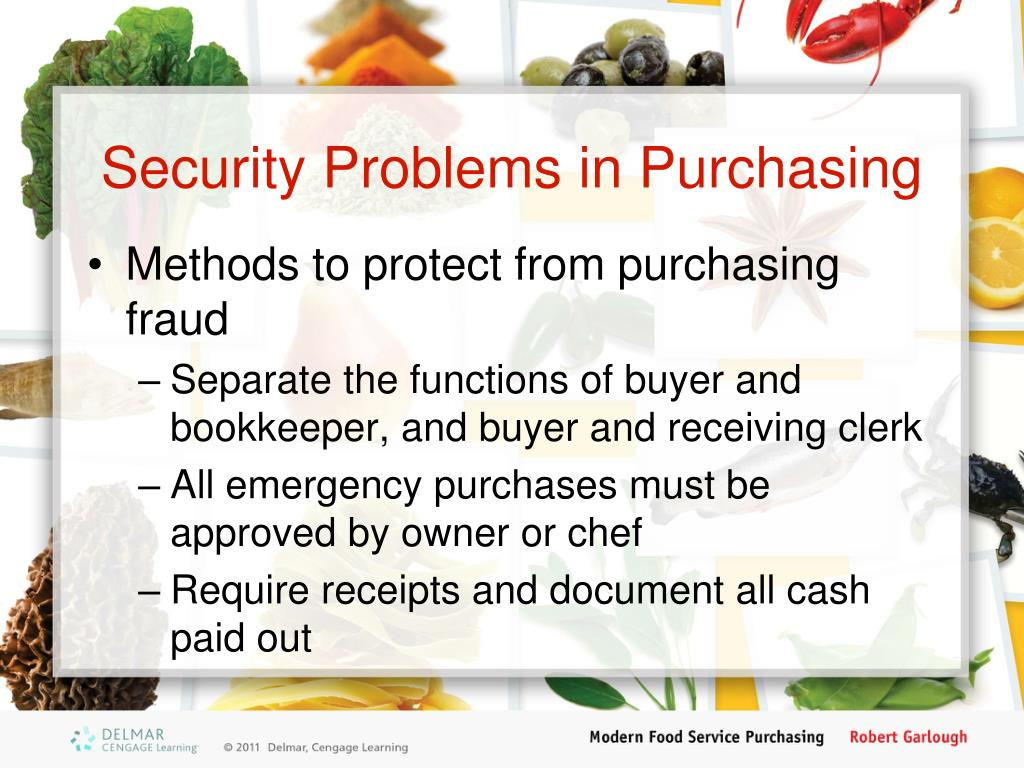 Security Problems in Purchasing