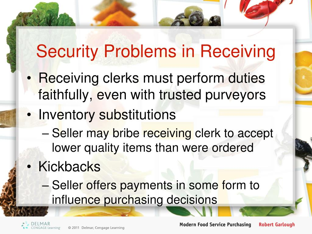 Security Problems in Receiving