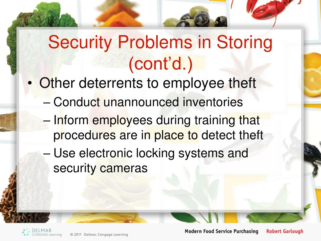 Security Problems in Storing (cont'd.)