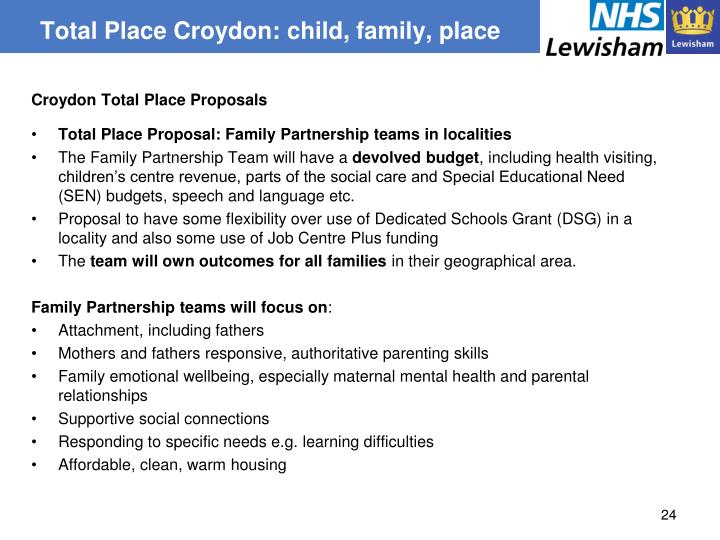 Total Place Croydon: child, family, place
