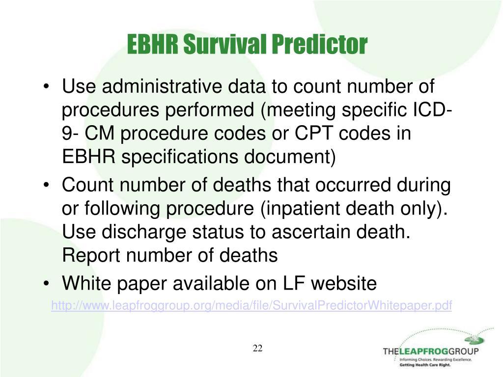 EBHR Survival Predictor