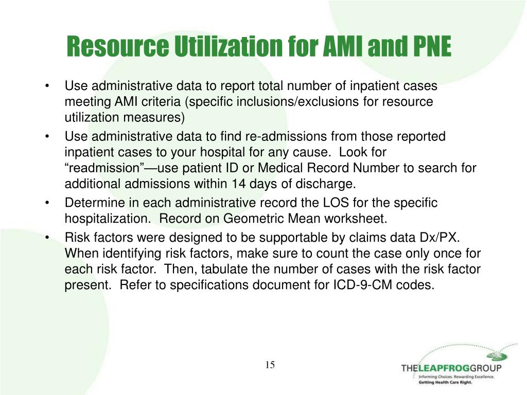 Resource Utilization for AMI and PNE