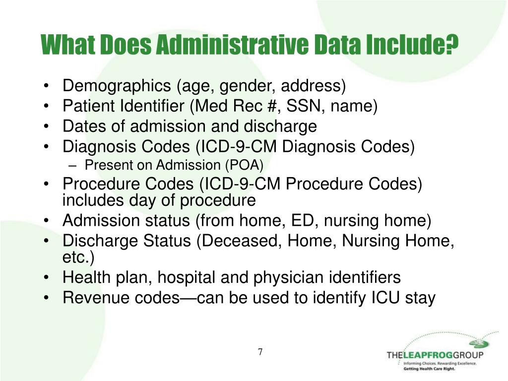 What Does Administrative Data Include?