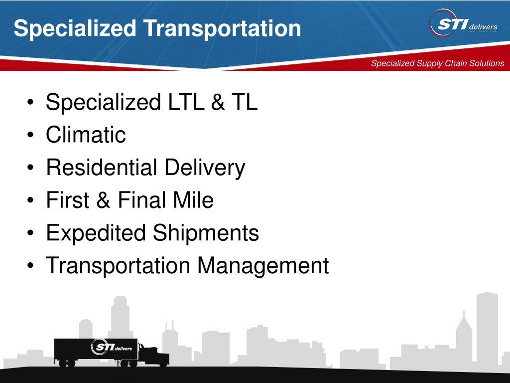 Specialized Transportation