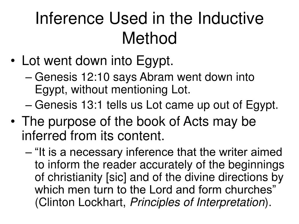 Inference Used in the Inductive Method