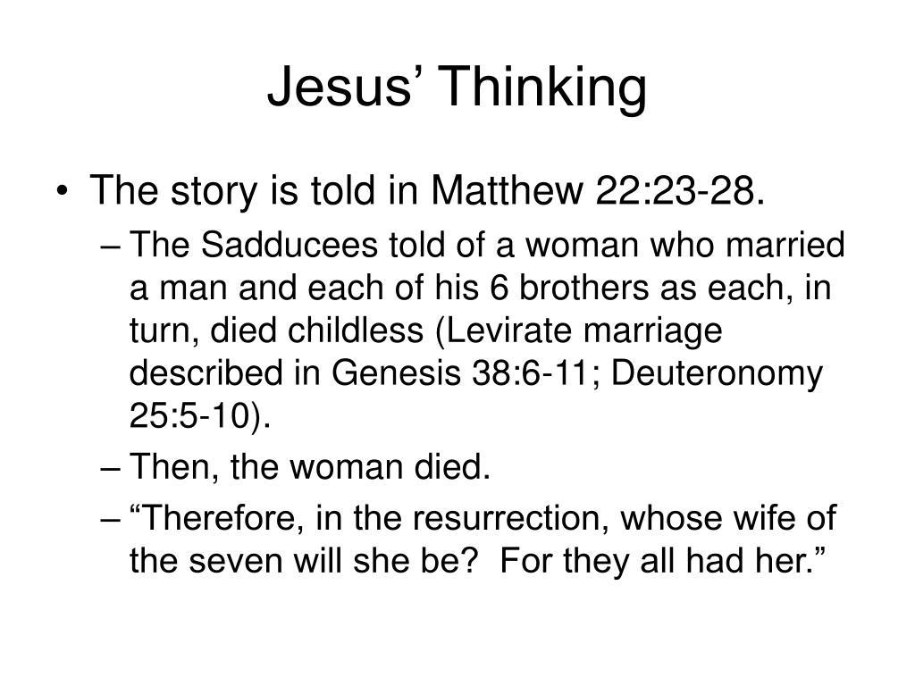 Jesus' Thinking
