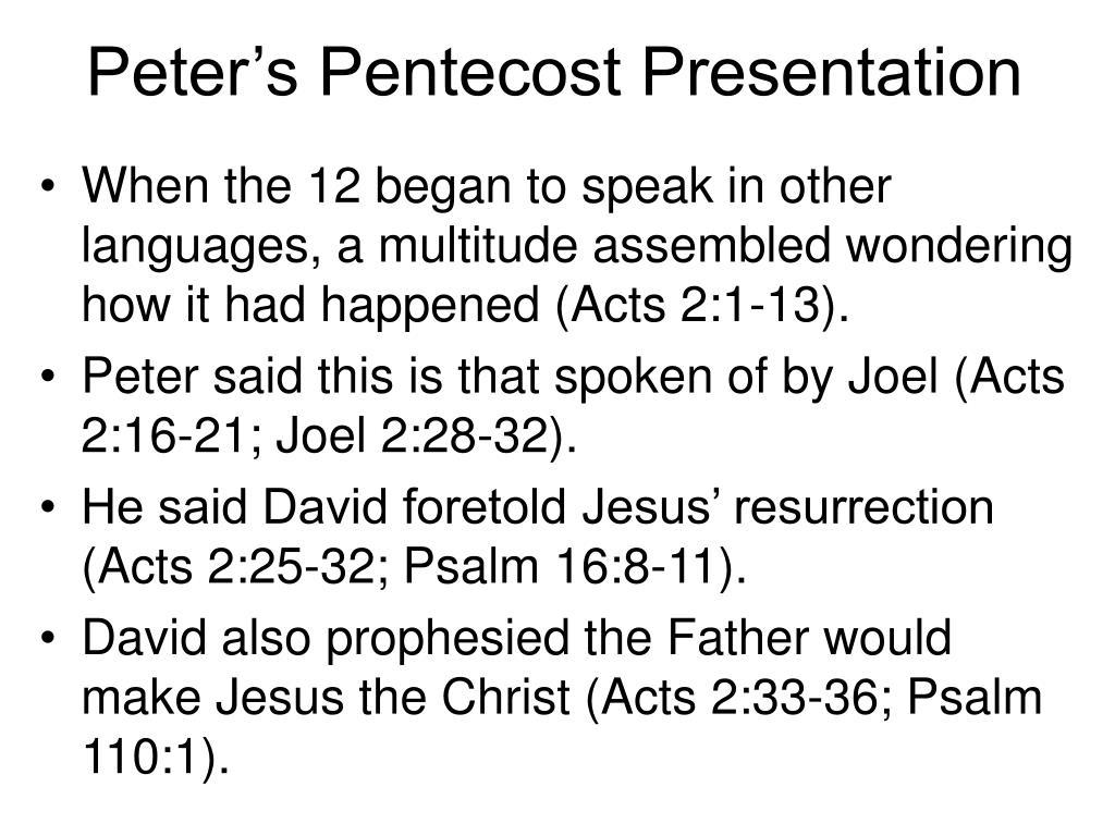 Peter's Pentecost Presentation
