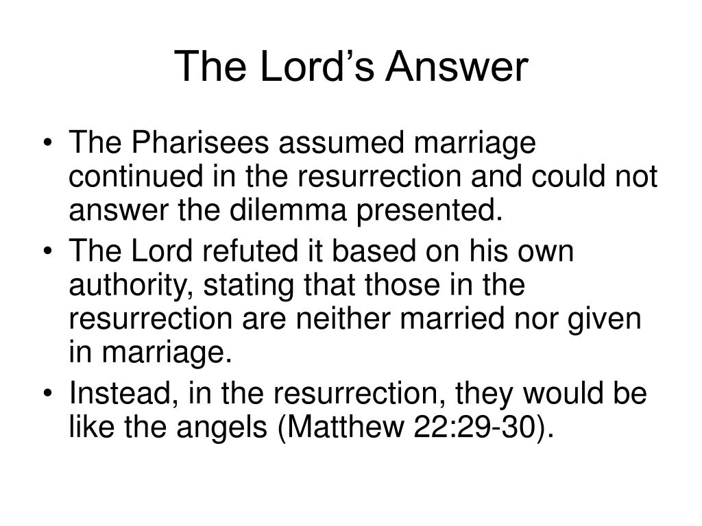 The Lord's Answer