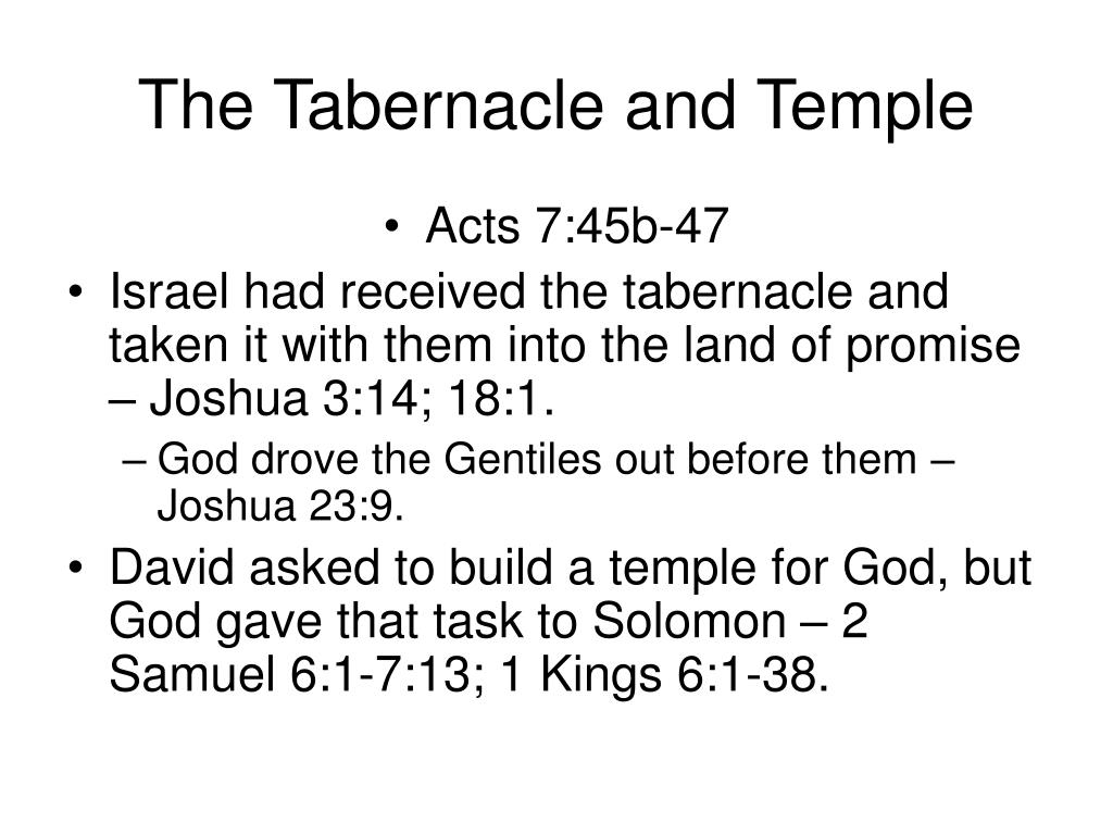 The Tabernacle and Temple