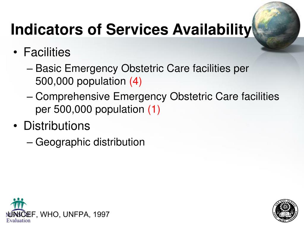 Indicators of Services Availability