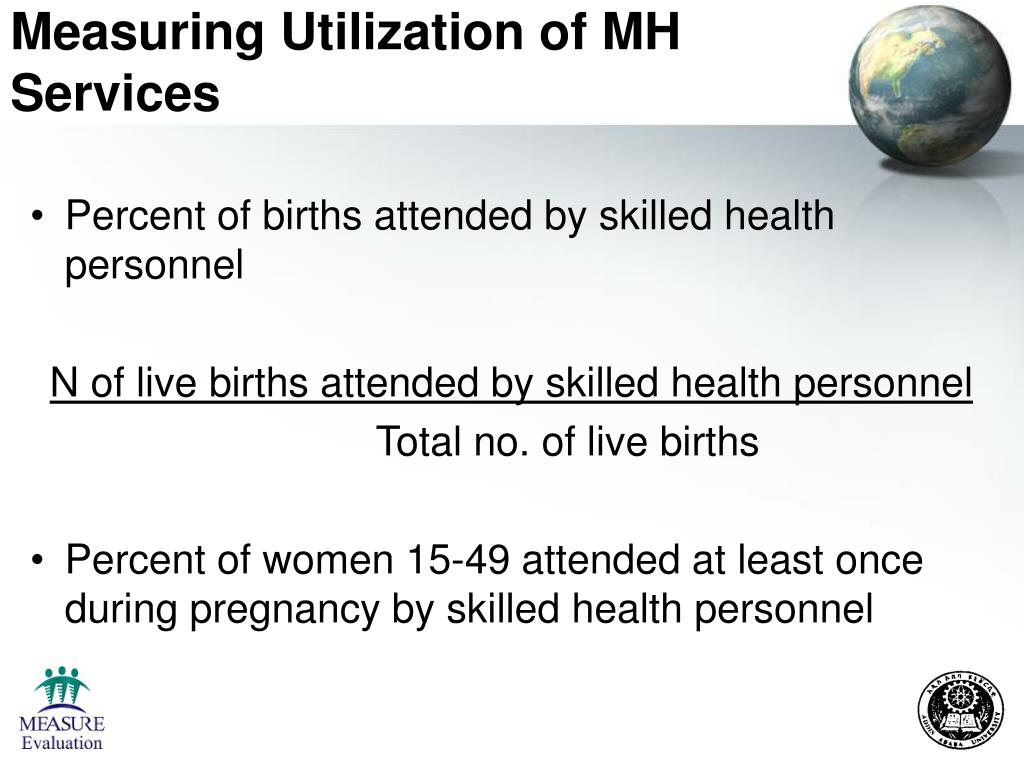 Measuring Utilization of MH Services