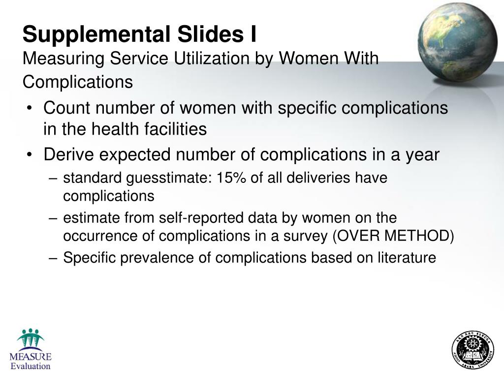 Supplemental Slides I