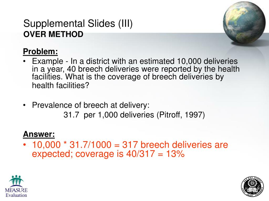 Supplemental Slides (III)