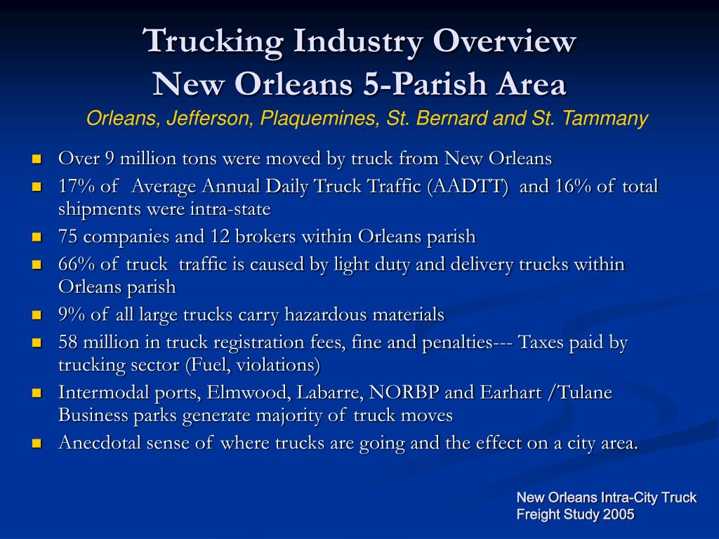 Trucking Industry Overview