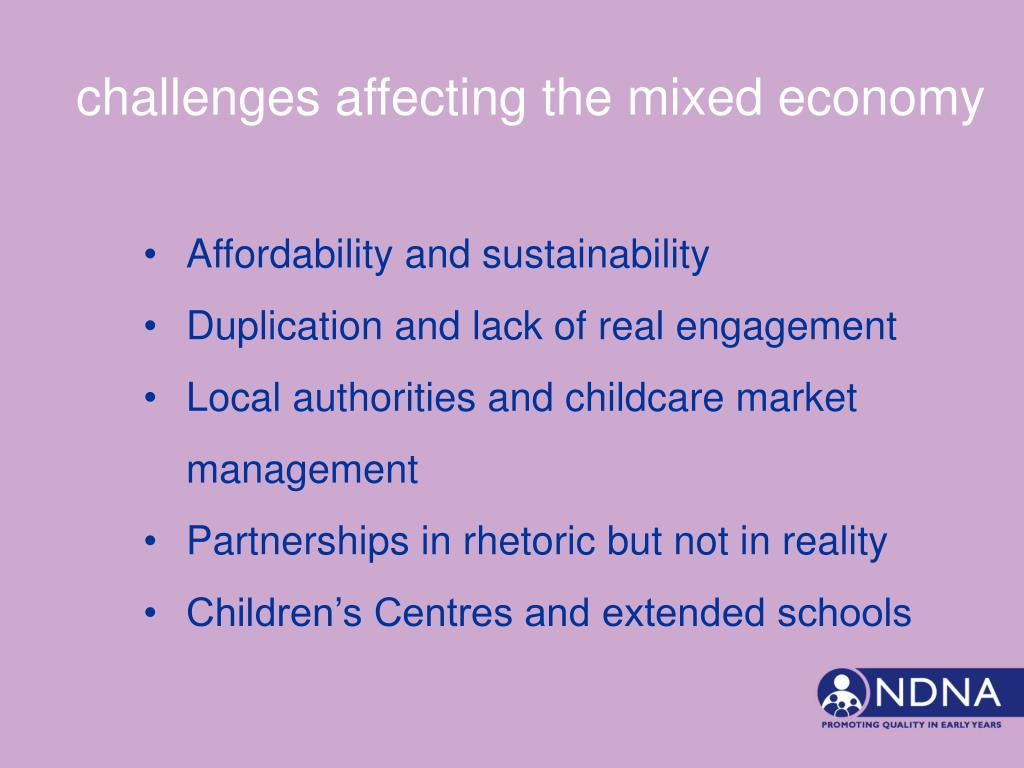 challenges affecting the mixed economy