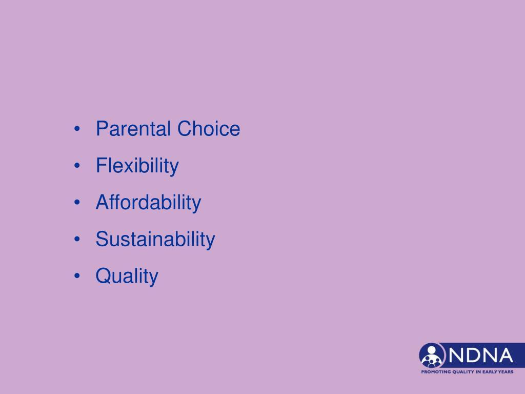 Parental Choice