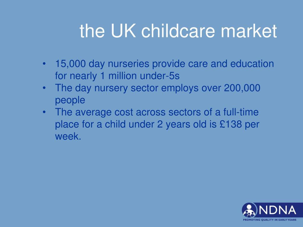 the UK childcare market