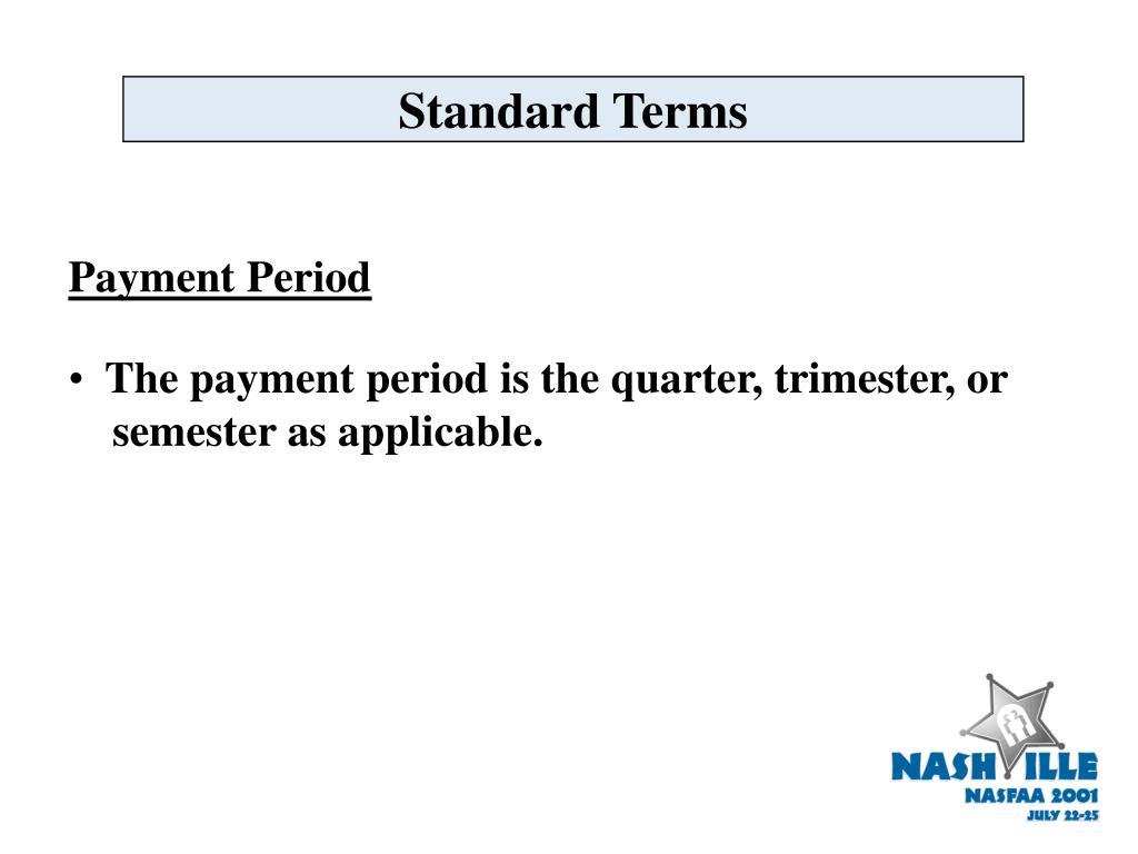 Standard Terms