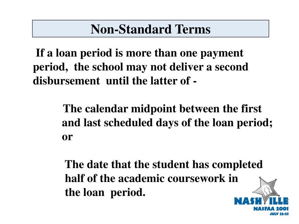 Non-Standard Terms