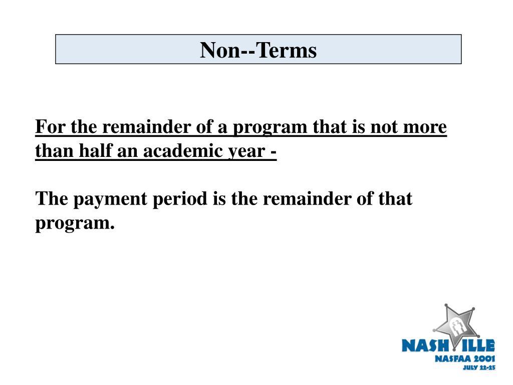 Non--Terms