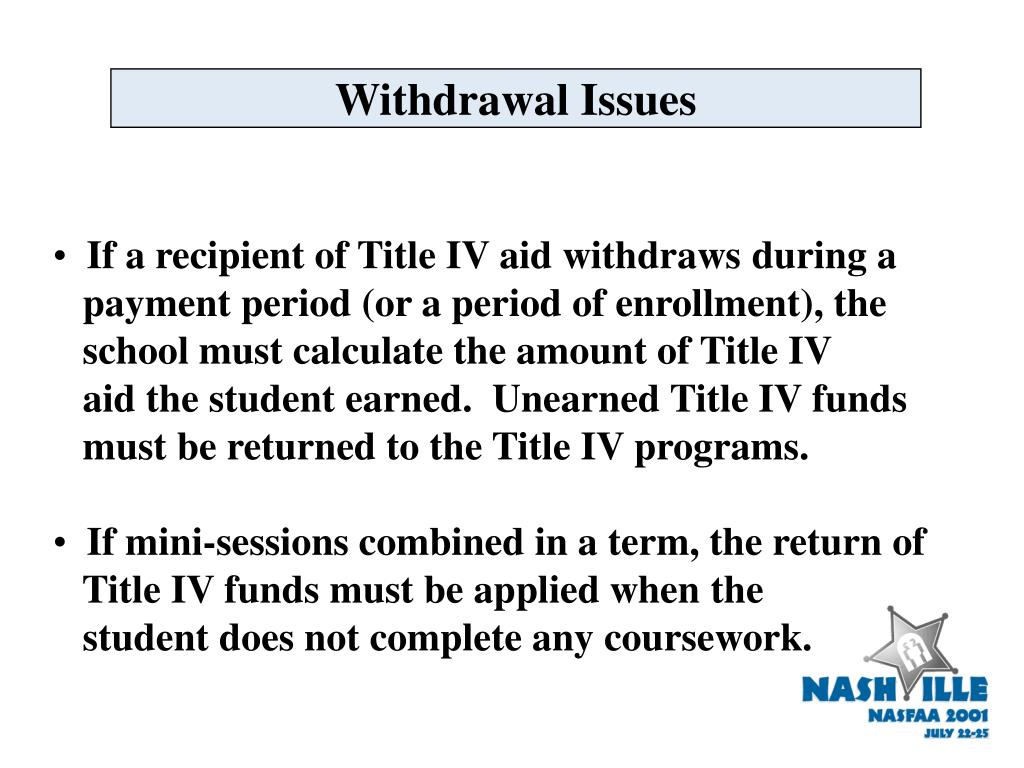 Withdrawal Issues