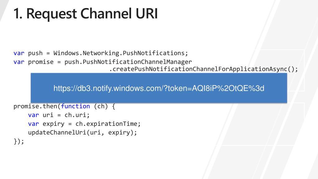 1. Request Channel URI