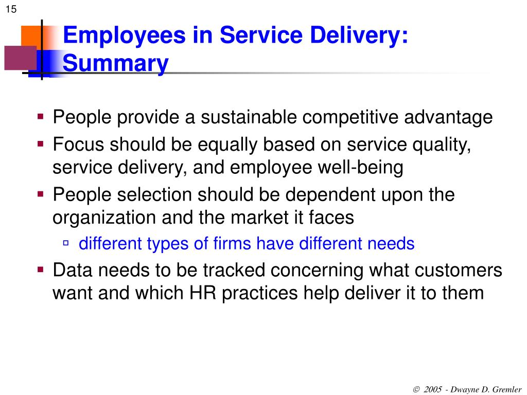 Ppt Employees Roles In Service Delivery Chapter 12