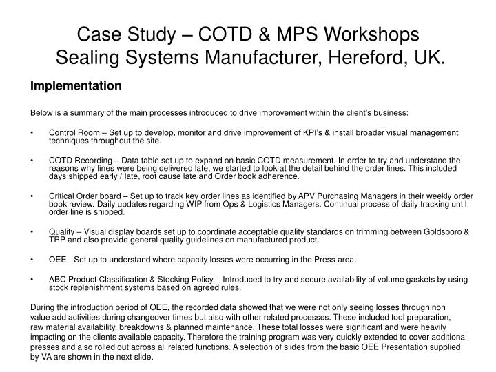 Case study cotd mps workshops sealing systems manufacturer hereford uk3