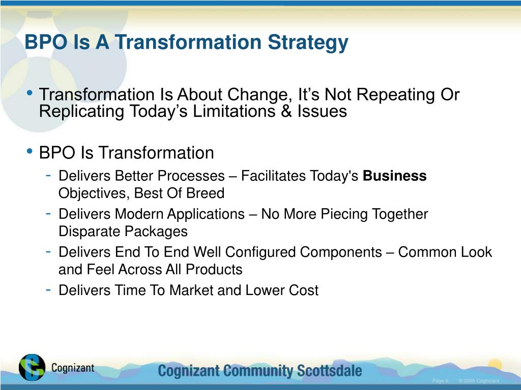 BPO Is A Transformation Strategy
