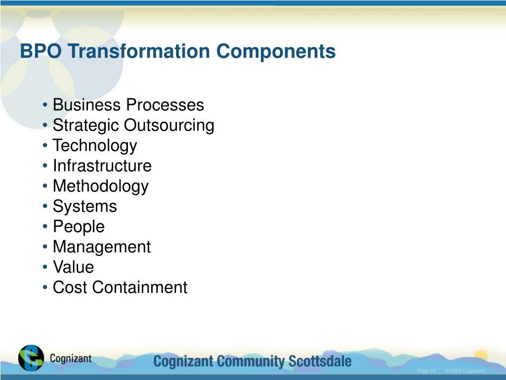 BPO Transformation Components