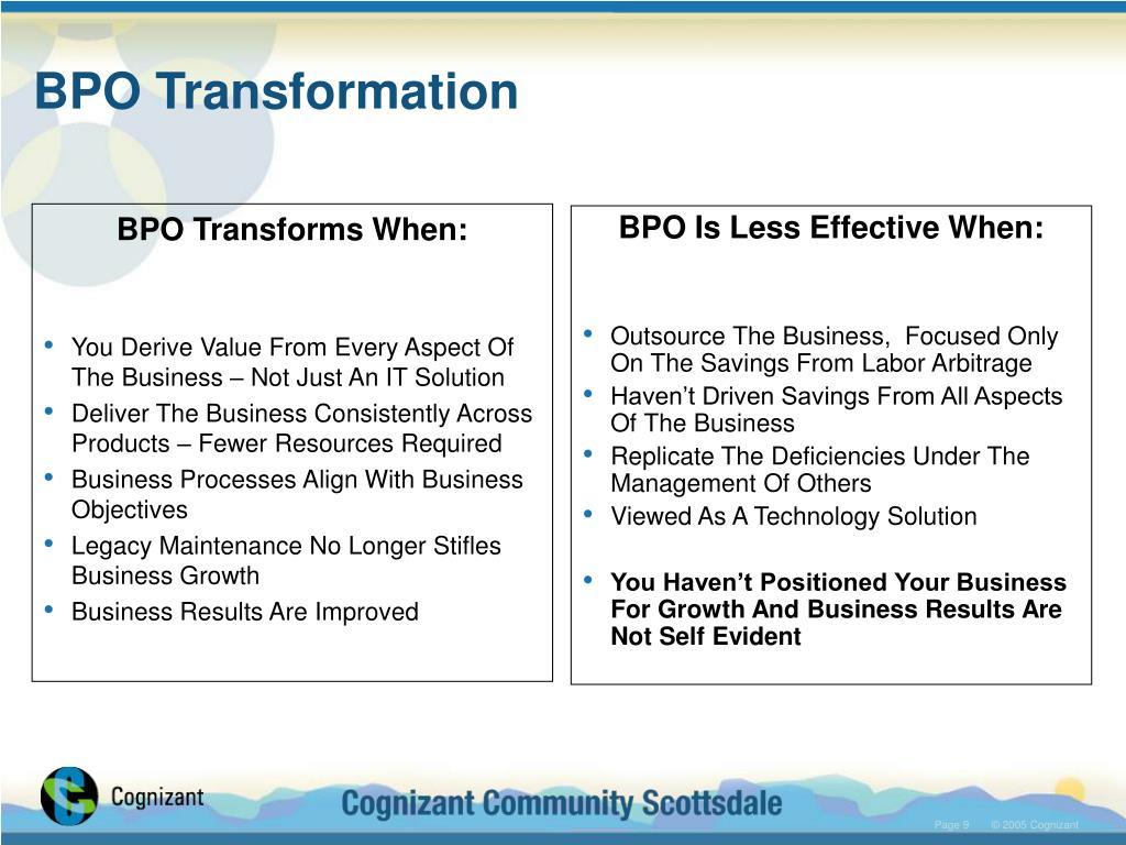 BPO Transformation