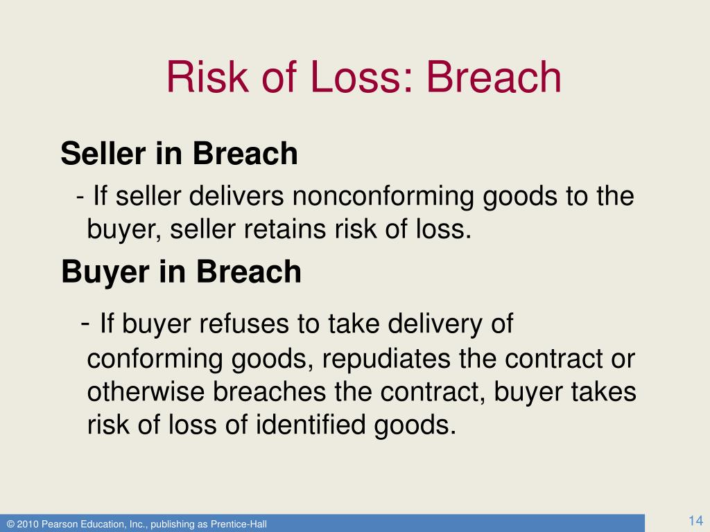 Risk of Loss: Breach