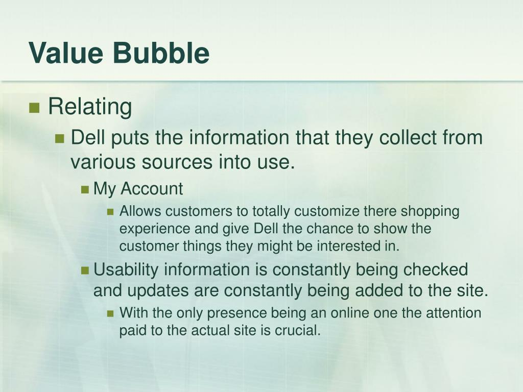 Value Bubble