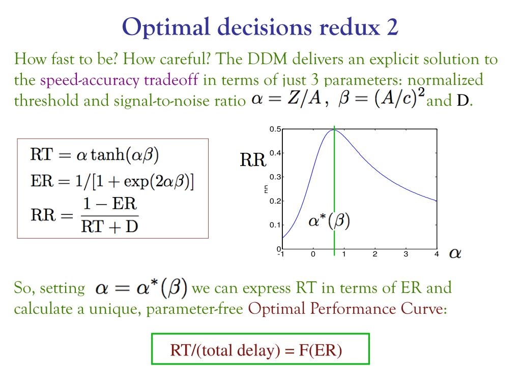 Optimal decisions redux 2