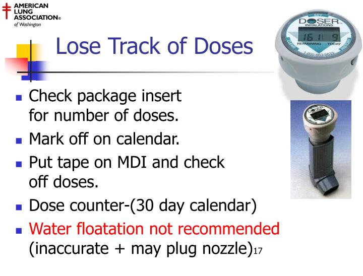 Lose Track of Doses