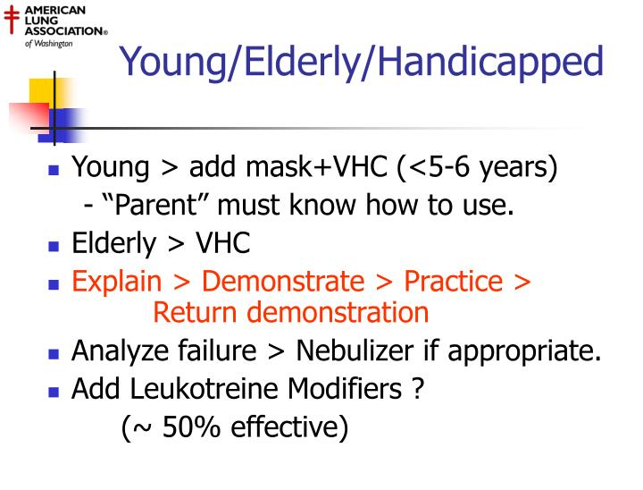 Young/Elderly/Handicapped