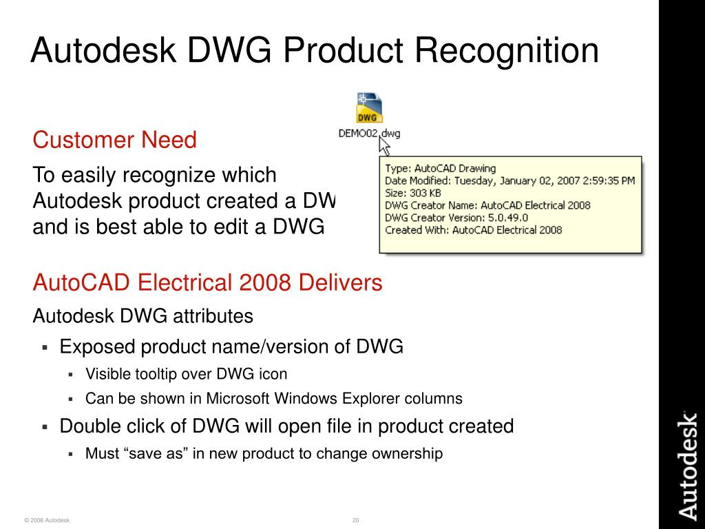 Autodesk DWG Product Recognition