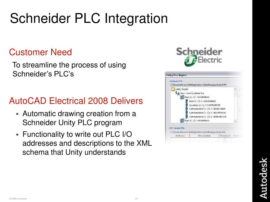 Schneider PLC Integration