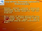 drug delivery technology important to pharma industry7