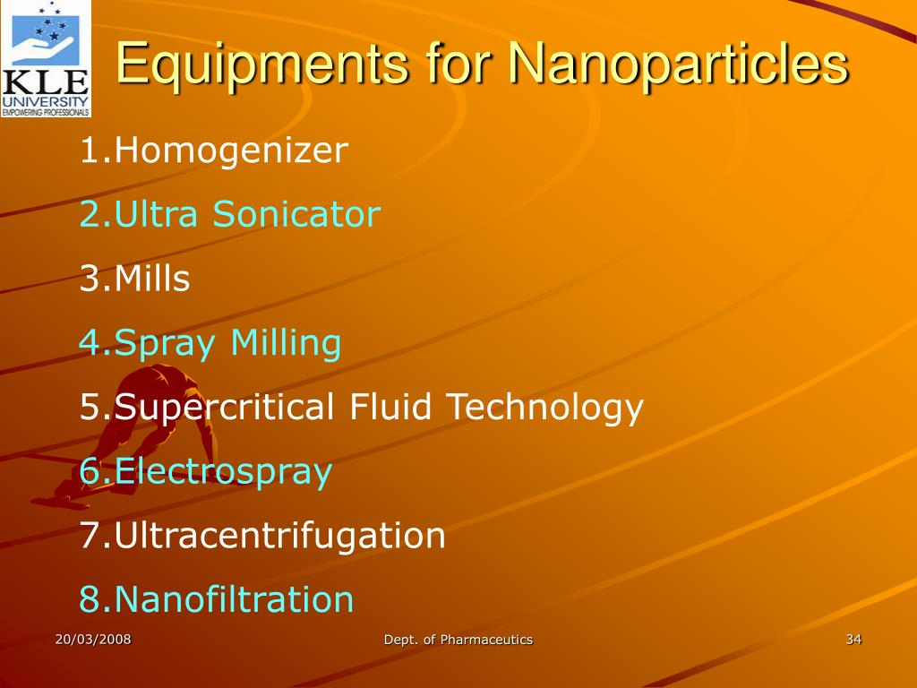 Equipments for Nanoparticles