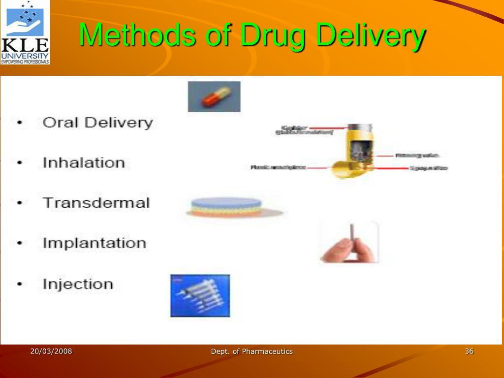 Methods of Drug Delivery