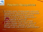 polymeric nanoparticles29