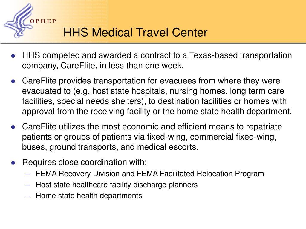 HHS Medical Travel Center